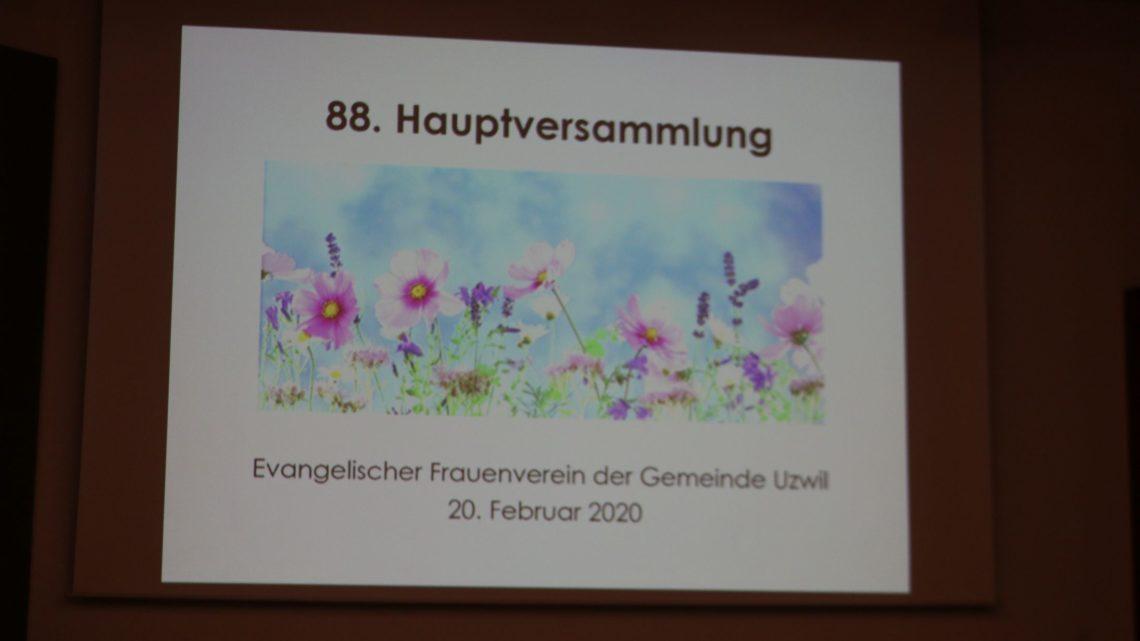 Zauberhafte HV des evangelischen Frauenvereins Uzwil
